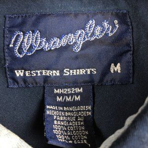Wrangler Shirts - VTG Wrangler Western Rodeo Pearl Snap Button Up